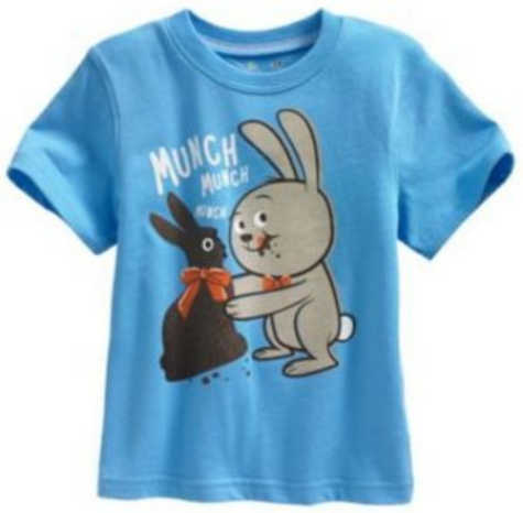 This  Jumping Beans® Chocolate Bunny Tee  has an adorable rabbit and chocolate bunny graphic, this Easter Graphic T-Shirt is sure to be an Easter favorite.