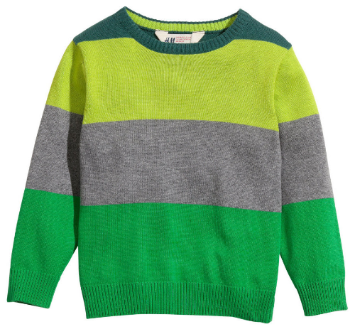 This  H&M Fine-knit Sweater is a fine-knit striped cotton sweater with a round neckline.This is a cute versatile Spring Stripe Sweater at a great price!