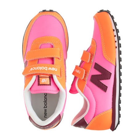 These  KIDS' NEW BALANCE®SNEAKERS are a retro style (for playground cred) with sturdy soles (for gym class cred). These iconic kicks will make all your little ones outfits cuter—and easier, thanks to Velcro closures. And you will only find this custom color at J.Crew.