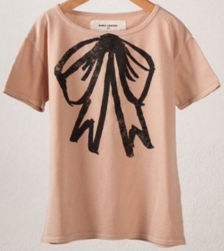 This  Bobo Choses Bow T-Shirt is garment-dyed which gives the T-Shirt a vintage look. Bobo Choses also has an adorable  Tank Top and  Sweatshirt with the same Bow Graphic.