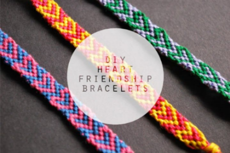 These THE DIY: HEART FRIENDSHIP BRACELETS  from Hey Wanderer on  bloglovin.com have an easy to follow step by step tutorial with photos and are Super Cute!