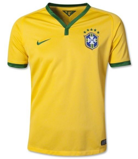 This  Nike Brazil 2014 Youth Home Soccer Jersey is the coolest way for your little one to cheer on Brazil in the official home jersey from Nike.At  worldsoccershop.com there is 2014 FIFA World Cup Hub where you can buy your little one, or yourself, an official jersey of all of the World Cup Country Teams.