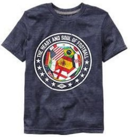 This  Umbro Soccer graphic tee is a cool T-Shirt for your little one to cheer for their favorite team. GOOOAL!