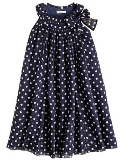 This  J.Crew COLLECTION DOT DRESS makes getting dressed up is a breeze in this light crinkled silk chiffon dress.I also love the dotty print and the Bow at the neckline, and the airy shift silhouette makes it the perfect Summer Dress.