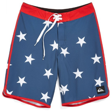 These  Quiksilver 'OG Retro' Board Shorts  have a bold pattern that lends a fun, retro Americana vibe to ultra-light, quick-drying board shorts.