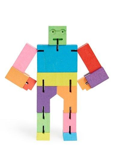 Areaware 'Small Cubebot' Wooden Robot Toy
