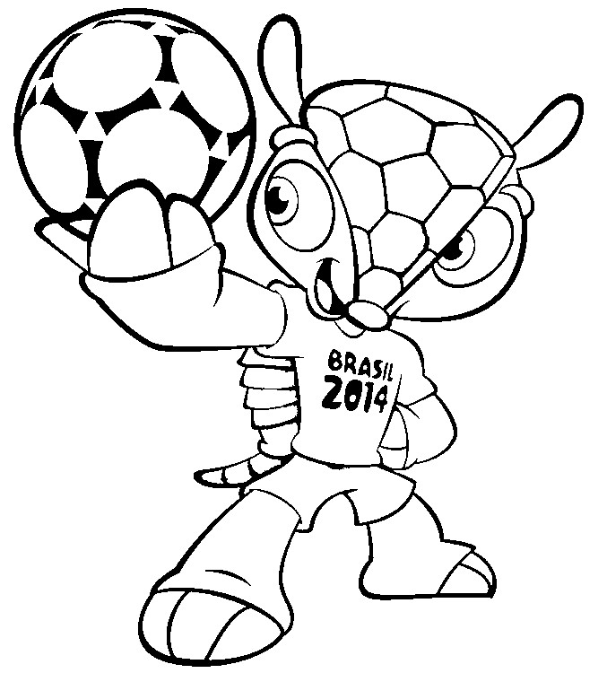 To keep your little ones excited about the World Cup and occupied during the match, I love this free printable Coloring Page of the 2014 FIFA World Cup™ mascot Armadillo Fuleco from  morningkids.net .