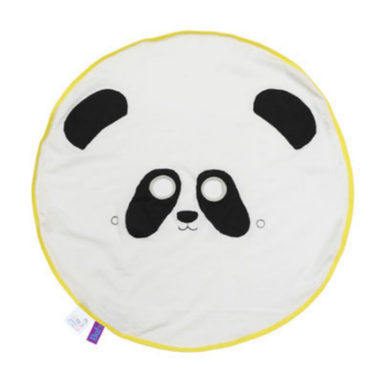BU! BLANKIE / PANDA  - This Special edition Panda motif by E. Dunker is sure to be every child's best friend. Besides being a traveling friend the comforting blankie, it also doubles as a peek-a-boo sheet and offers different levels of pedagogical and playful interaction depending on your child's age. Mario has a  BU! BLANKIE / INDIAN , and he loves it!