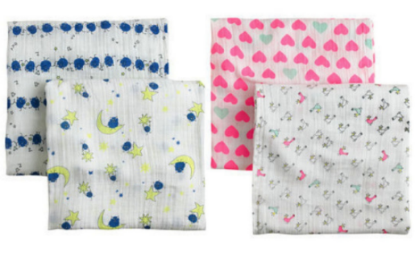 ADEN + ANAIS® FOR CREWCUTS SWADDLE BLANKETS TWO-PACK  - Started by a mom in 2006, aden + anais is a brand I love for its simple, tried-and-true designs that keep babies safe and cozy. These soft, breathable and durable muslin cloths are ideal for your newborn's blankie, and these adorable prints are exclusive to J.Crew. You will use these Swaddle Blankets for years!