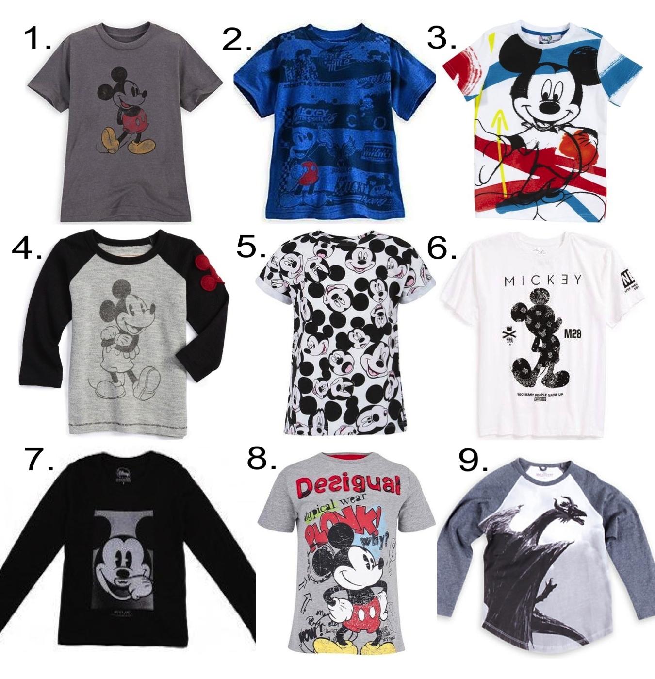 Disney Boys Collaborations  1.  Mickey Mouse Tee    2.  Mickey Mouse Motocross Tee  3.  Desigual T-Shirt  4. Peek 'Curious' Raglan Sleeve Shirt  5.  Little Eleven Paris Mickey Tee  6.  neff 'Paisley Mickey' T-Shirt  7.  LITTLE ELEVEN PARIS Mickey T-Shirt  8.  Desigual Mickey Mouse Tee  9.  Dragon Maleficent by Stella McCartney