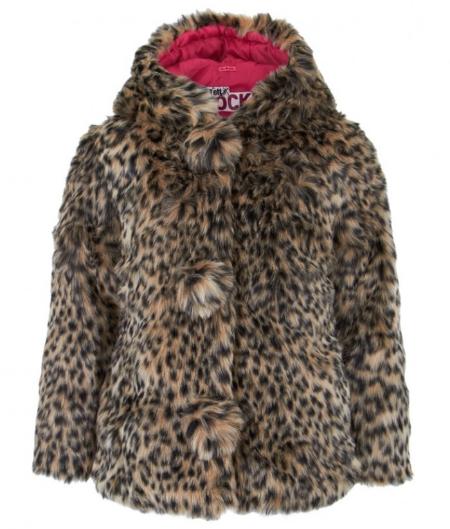 IkksFaux Fur Leopard Coat