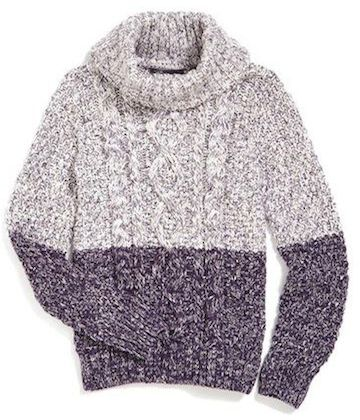 Vince 'Color Twist' Cable Knit Sweater