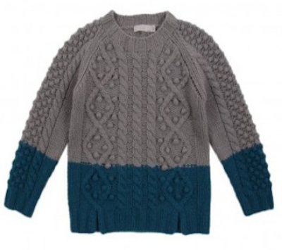 STELLA MCCARTNEY Swallow twists twotone pullover