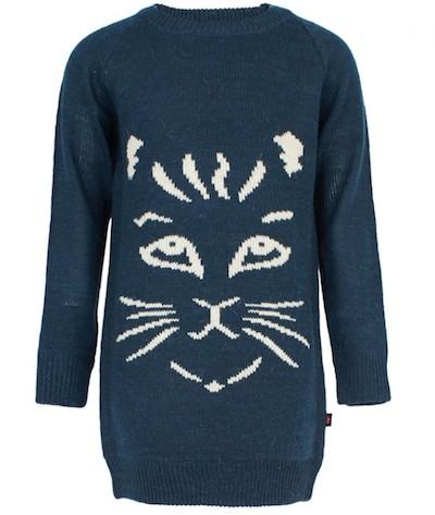 MoloCat Face Sweater Dress