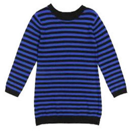 C de C Girls Striped Sweater Dress