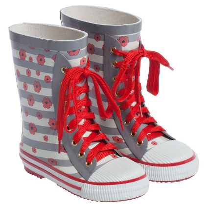LITTLE MARC JACOBSGirls Floral Wellies with Laces
