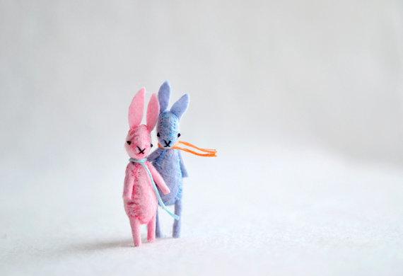 miniature felt bunny