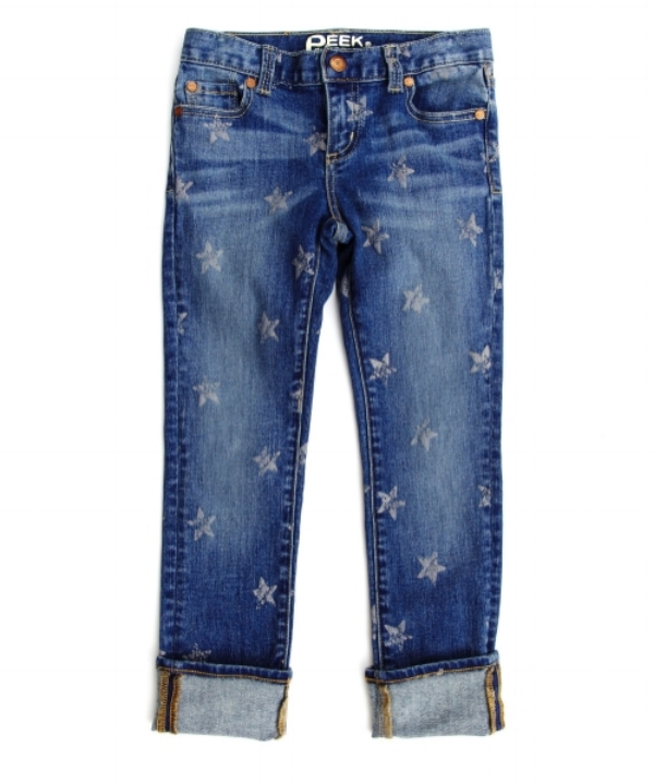 Peek Aren't you Curious brought back their favorite skinny jean for spring, the  Audrey Jean with Stars , they have a super soft washed denim and a fresh new Allover Star Print. Your Little Sweetheart will look adorable wearing these Allover Star Printed Jeans into Spring pairing them with a graphic tee or a light weight crew!