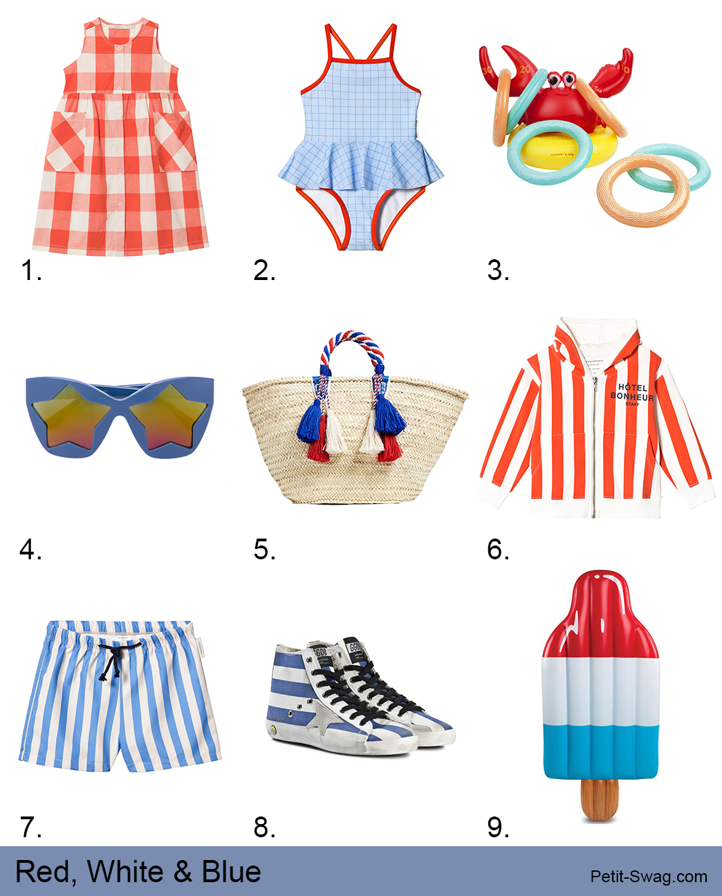 Red, White & Blue | petit-swag.com