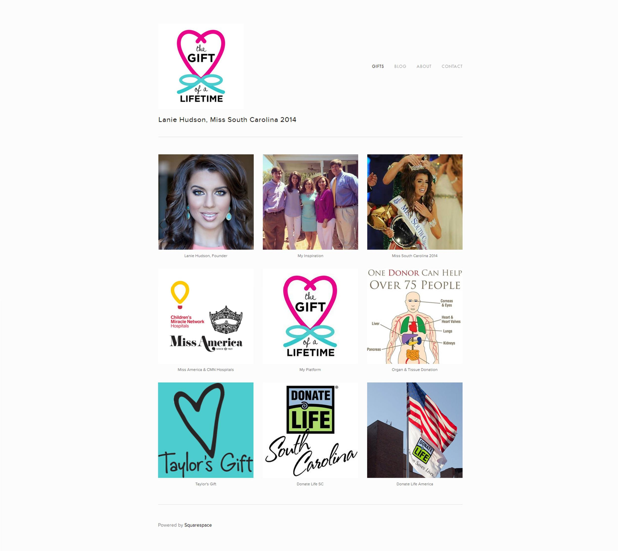 WEBSITE DESIGN / Lanie Hudson, Miss South Carolina 2014