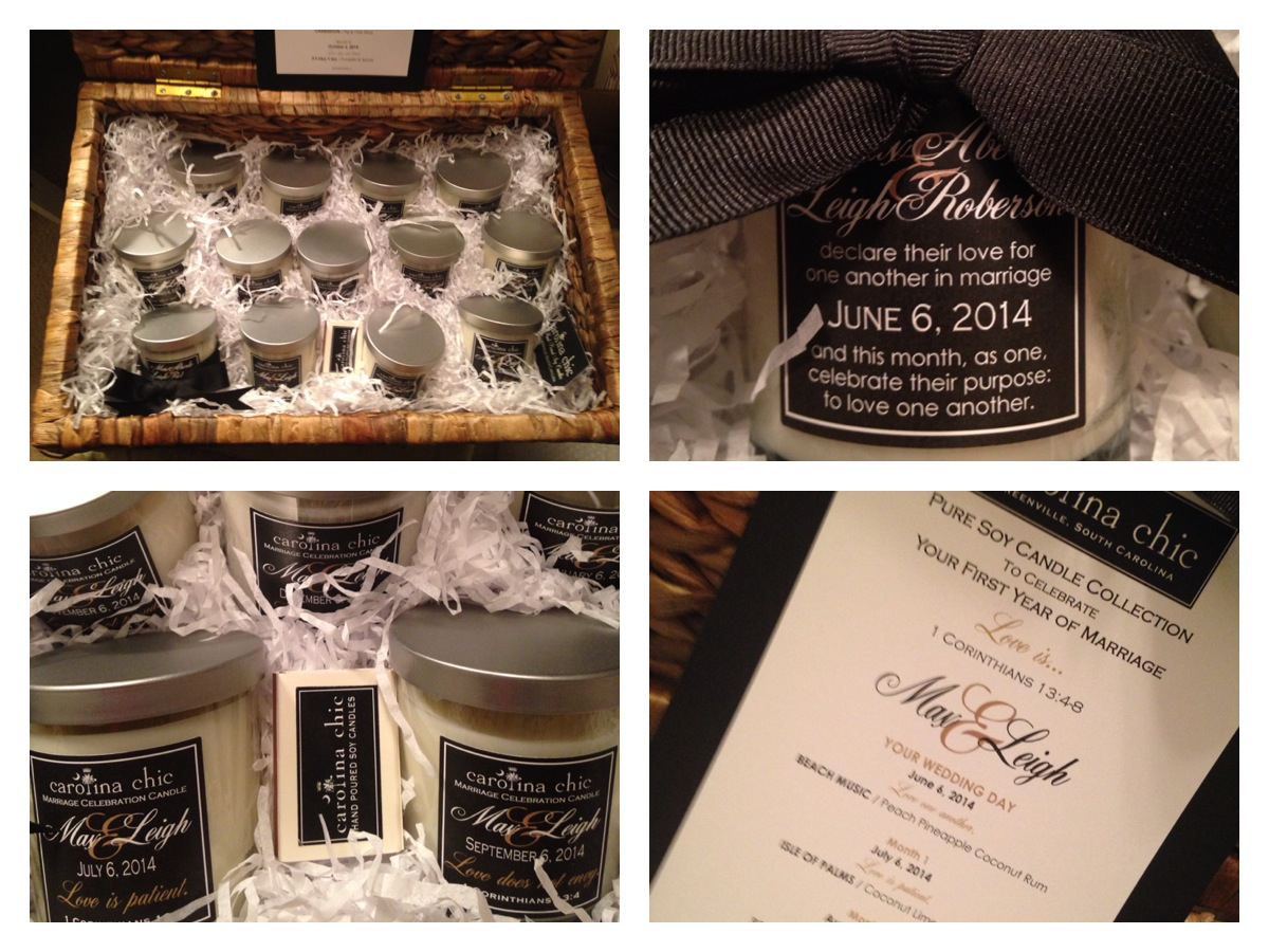 PACKAGE DESIGN / Custom Wedding Celebration Candle Set