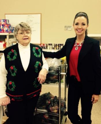 Ronnetta   with Backpack Blessings founder Alice Prevatt.