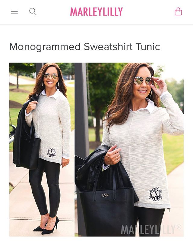 FACT: Here in the South, we monogram everything that doesn't move...and some things that do. 😂🚙 If you're looking for a super cute monogrammed sweatshirt tunic for this lovely fall weather that we're having 🌞🔥😅 might I recommend this one from my friends at Marley Lilly? (I promise there's going to be a chill in the air...somewhere...soon!) And best of all, it's on SALE! 🏷 {link in profile} https://marleylilly.com/product/monogrammed-sweatshirt-tunic #MarleyLilly #monograms #southernladies #ronnettagriffin #whosthatagent And since y'all already know I'm #highmaintenance, 🤷🏻‍♀️ here's the short list 😂 of talented individuals it takes to help get #marleylilly-ready.  Thank you!! 😘 @mackenziekeaton 👗 @allend_randall 📸 @brioaestheticsgreenville 🌸 @browningstudio ✨ @giacmicro 💁🏻‍♀️ @lashbardowntown 😍 @spanx 😄