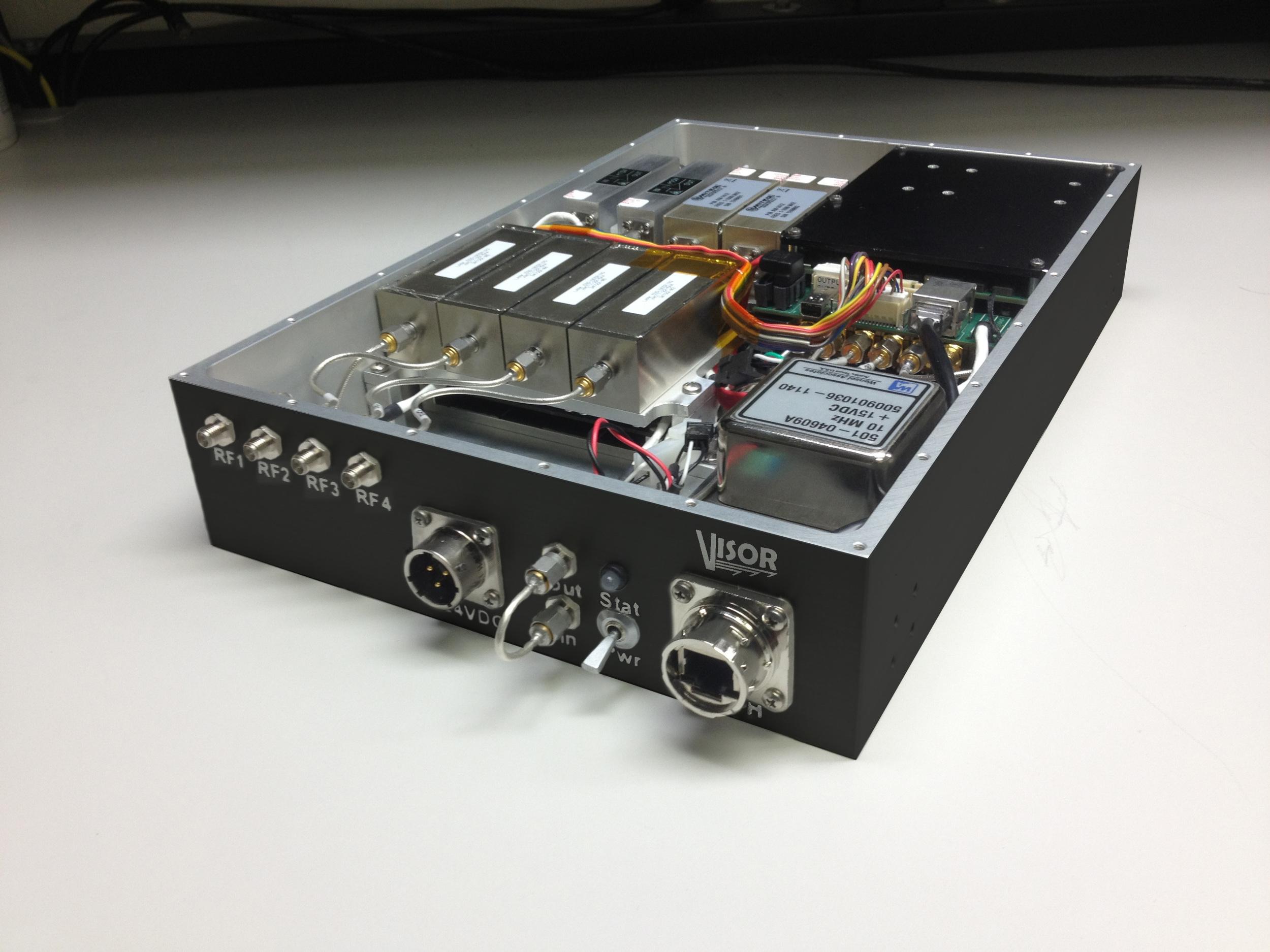 Digital receiver - lid open