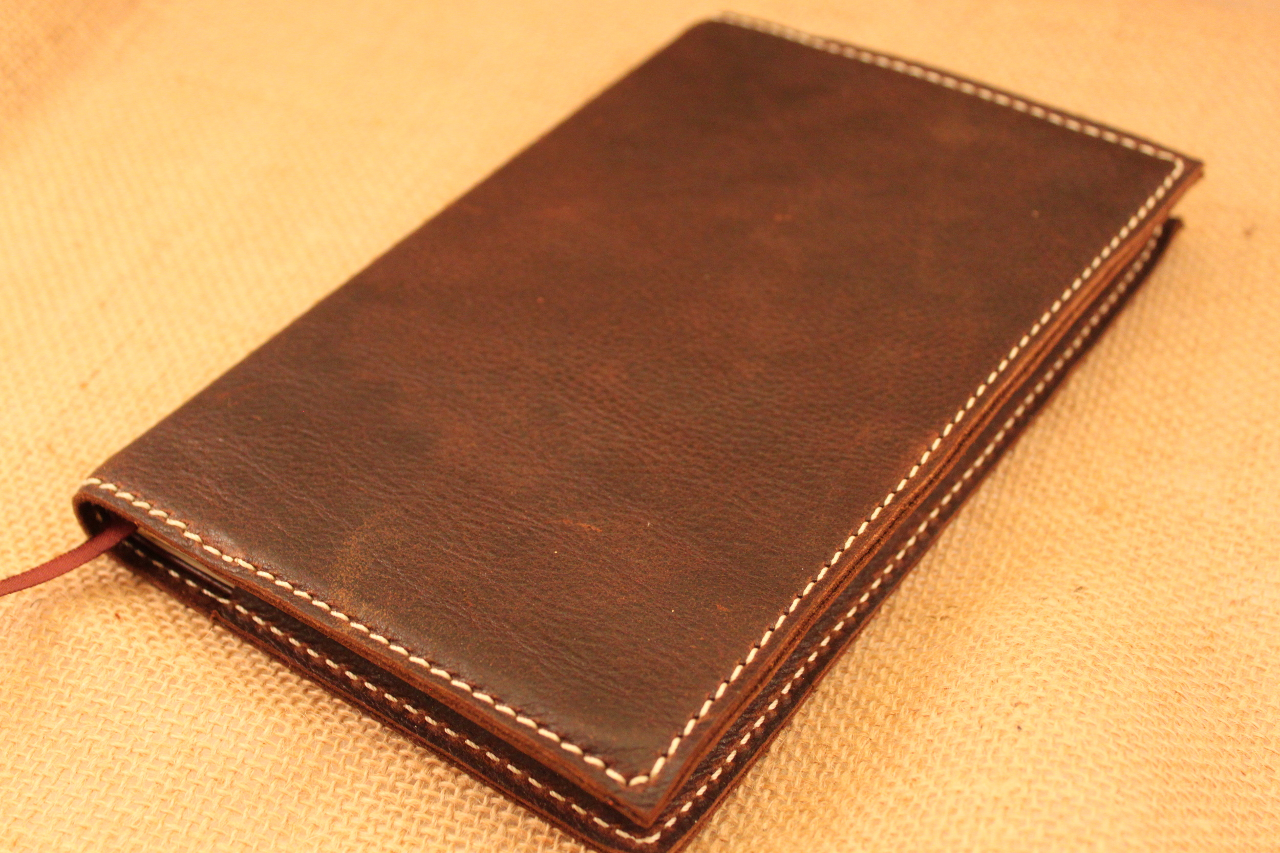 Beautiful leather - can be made with the same leather as your Bible or a different one.