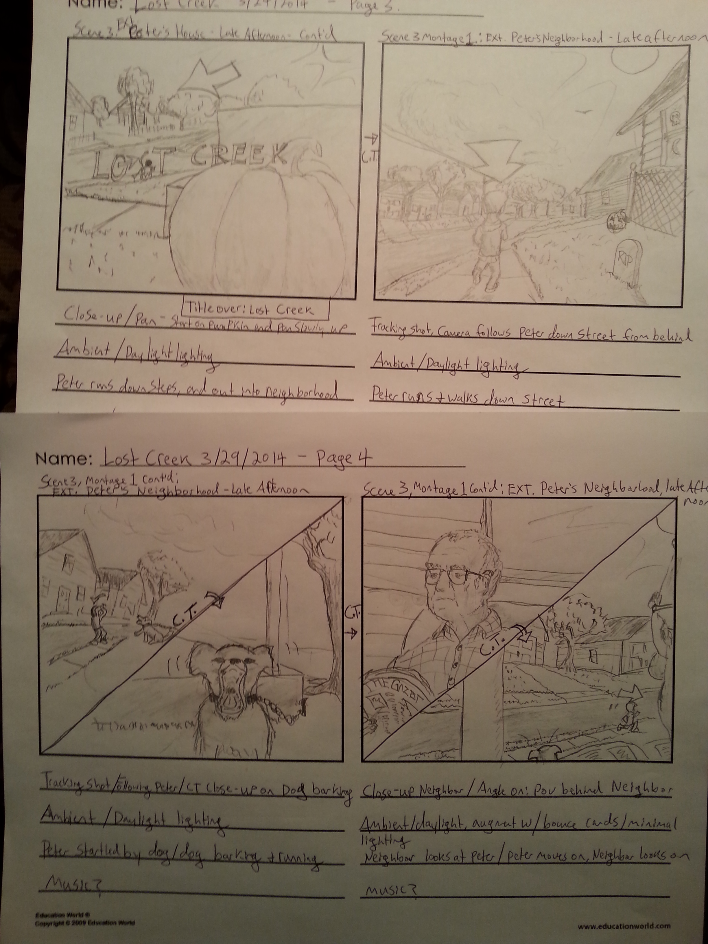 Storyboarding from Lost Creek!