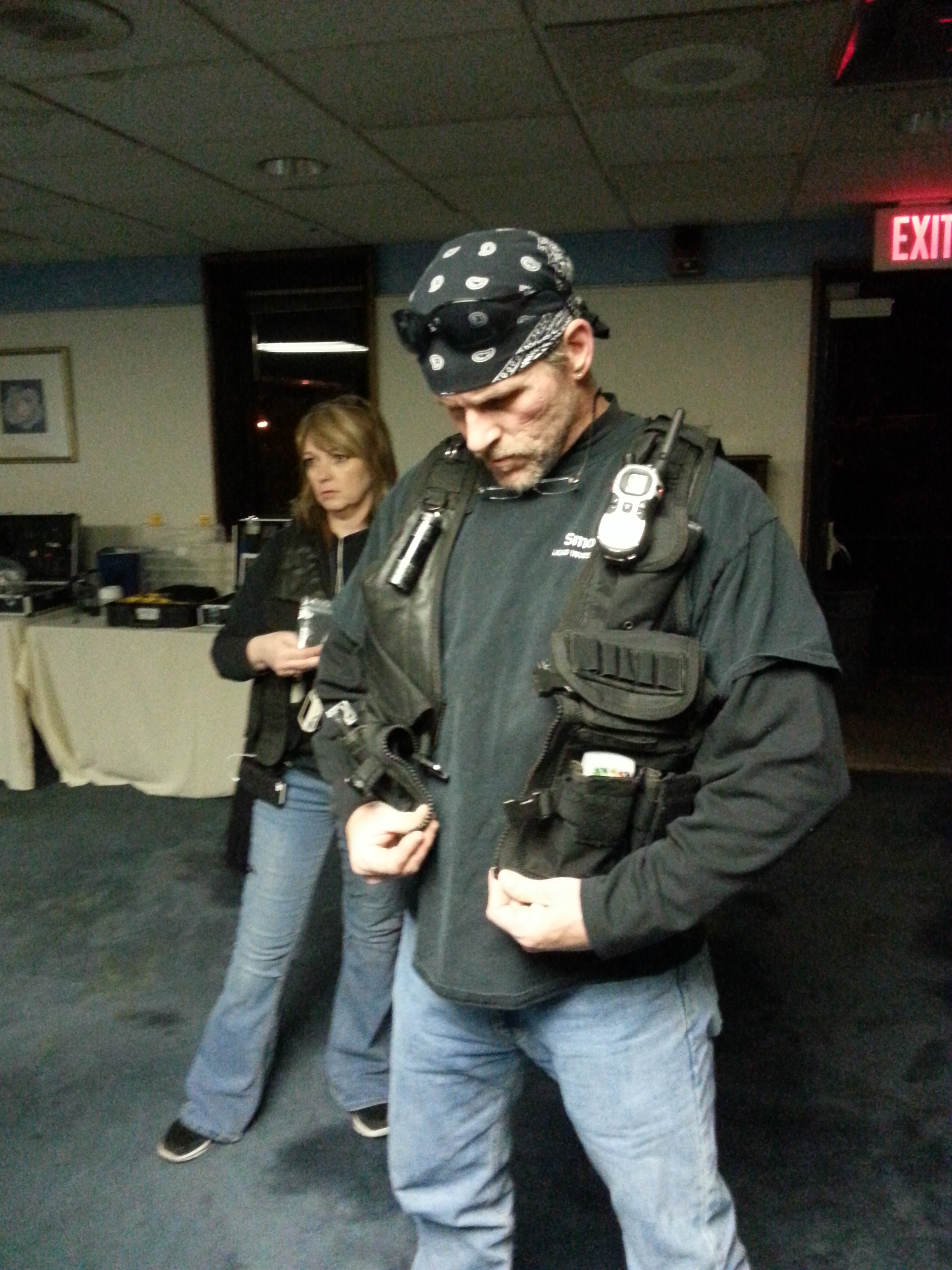 Lead investigator Smoke suiting up...