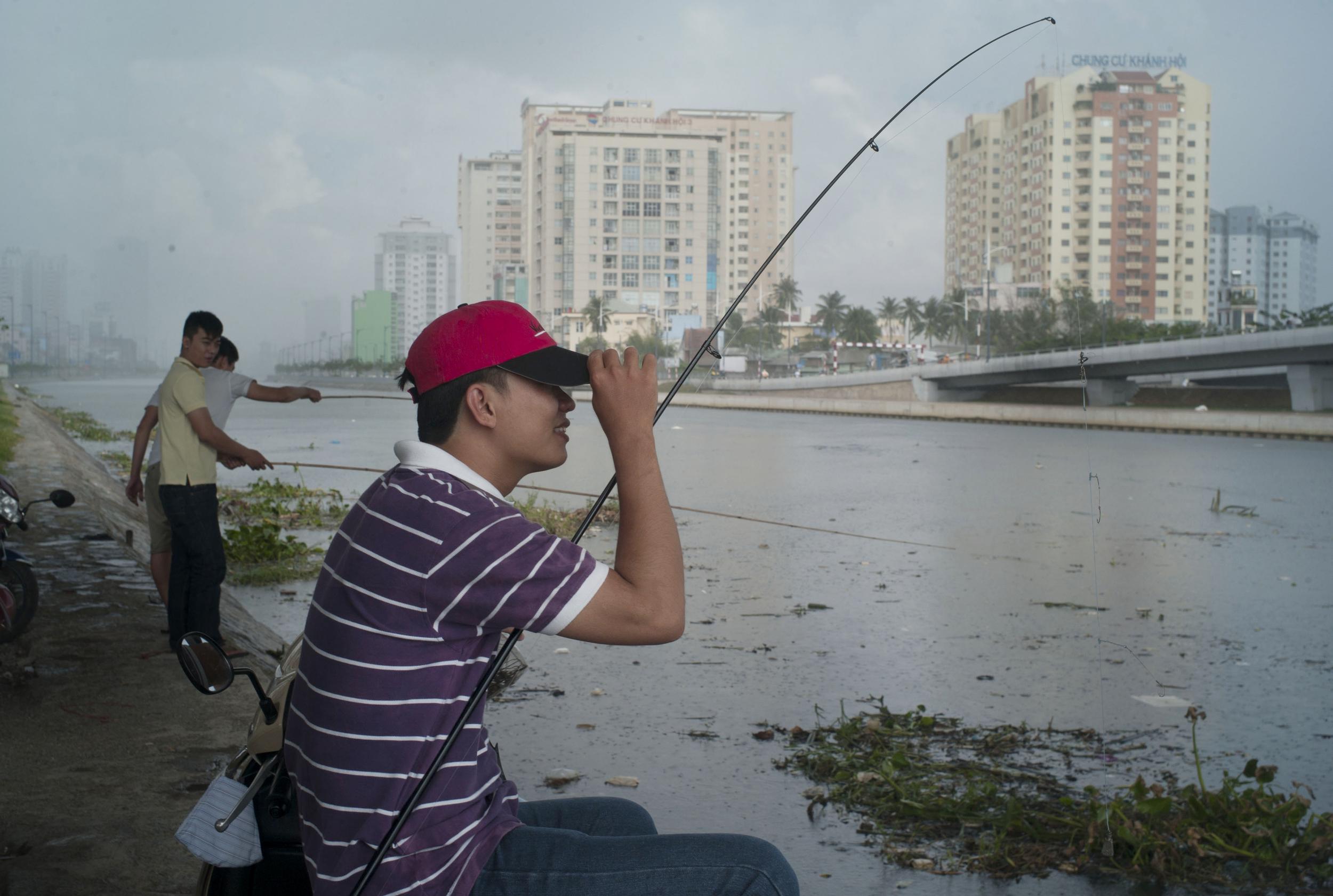 Fishing, Ho Chi Minh, Vietnam.