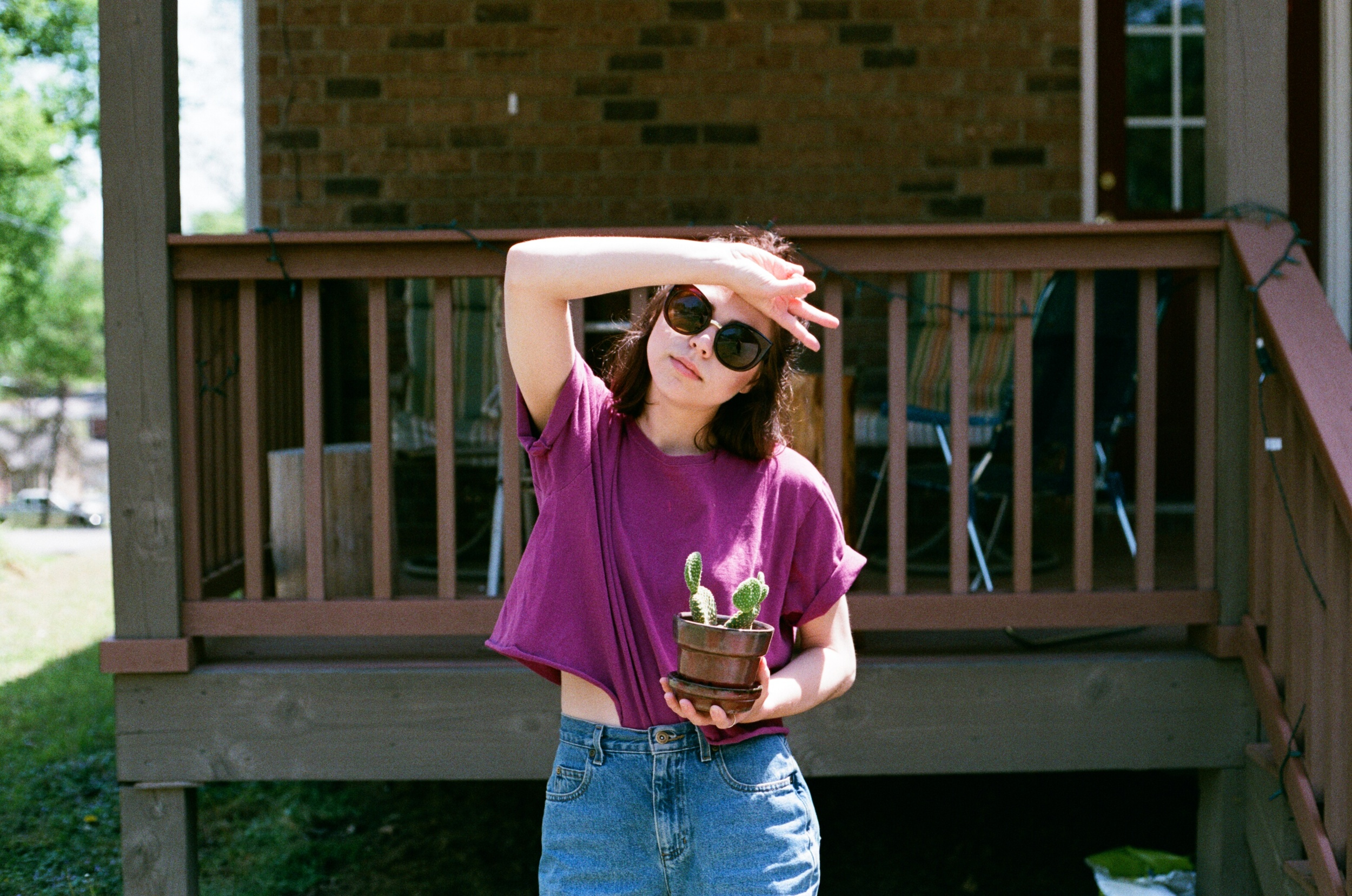 Felt good to be back home with Ginger and Taylor's Cactus (she had one exposure left on the roll)