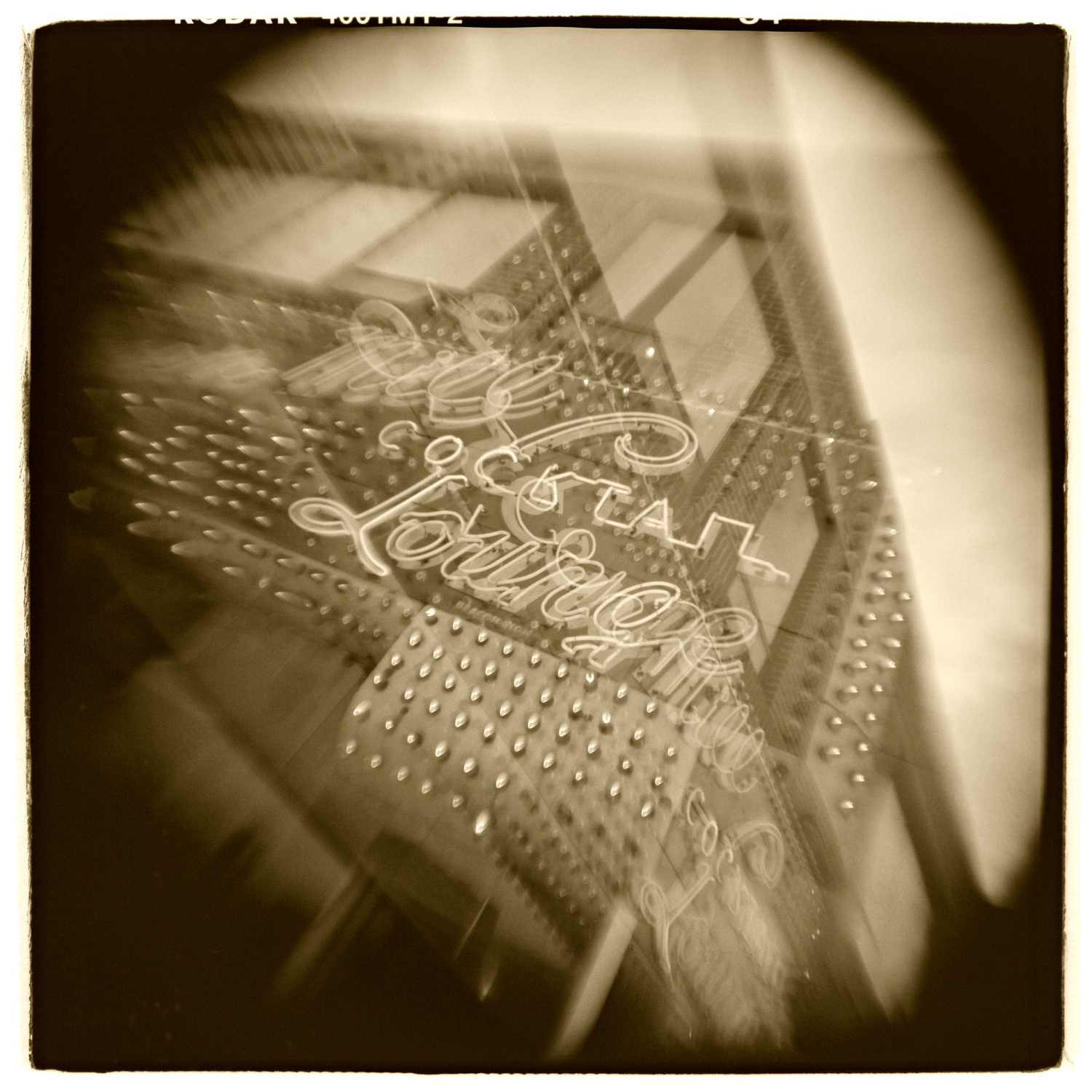 """""""Green Mill, Chicago"""" H1463 (In-camera Triple Exposure)"""