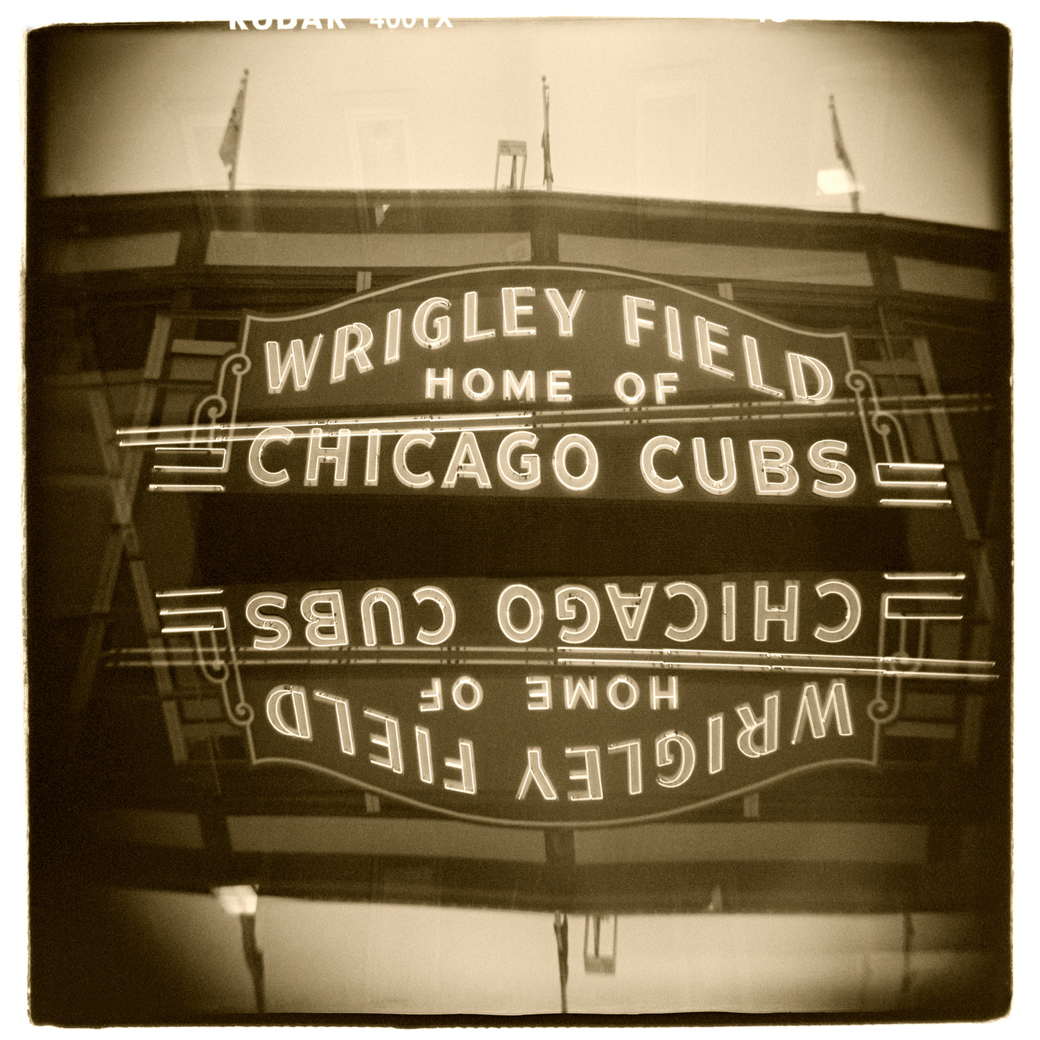 """""""Wrigley Field, Chicago"""" H1465 (In-camera Double Exposure)"""