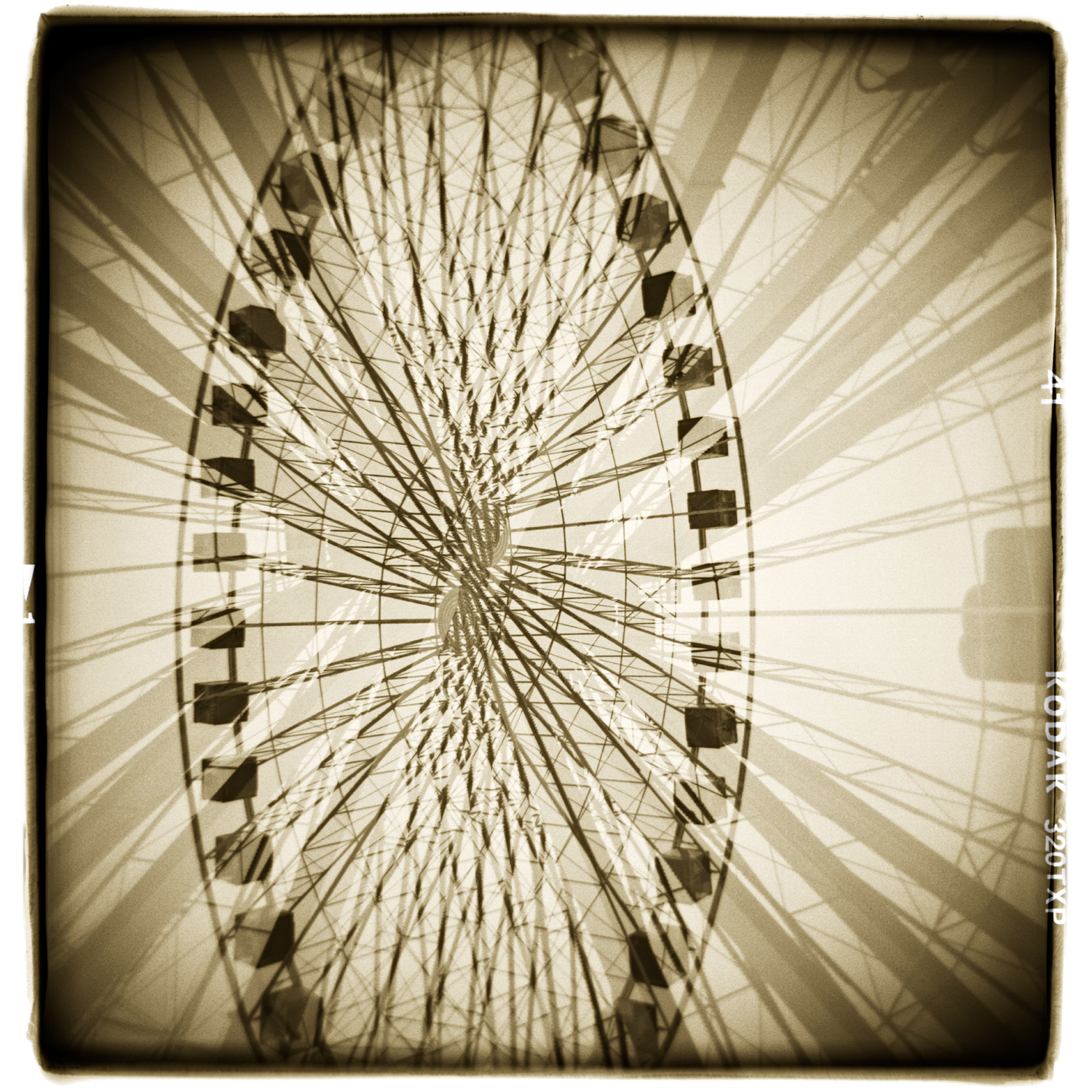 """""""Everything I think I know, I'm not sure I do"""" Navy Pier, Chicago H1472 (In-camera Double Exposure)"""