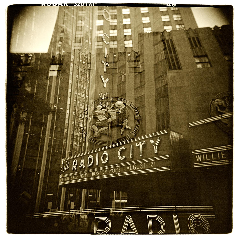 """Radio City, New York"" H1477 (In-camera Triple Exposure)"