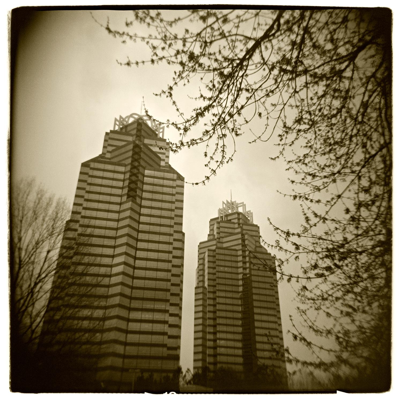 """King & Queen Buildings, Atlanta"" H1490"