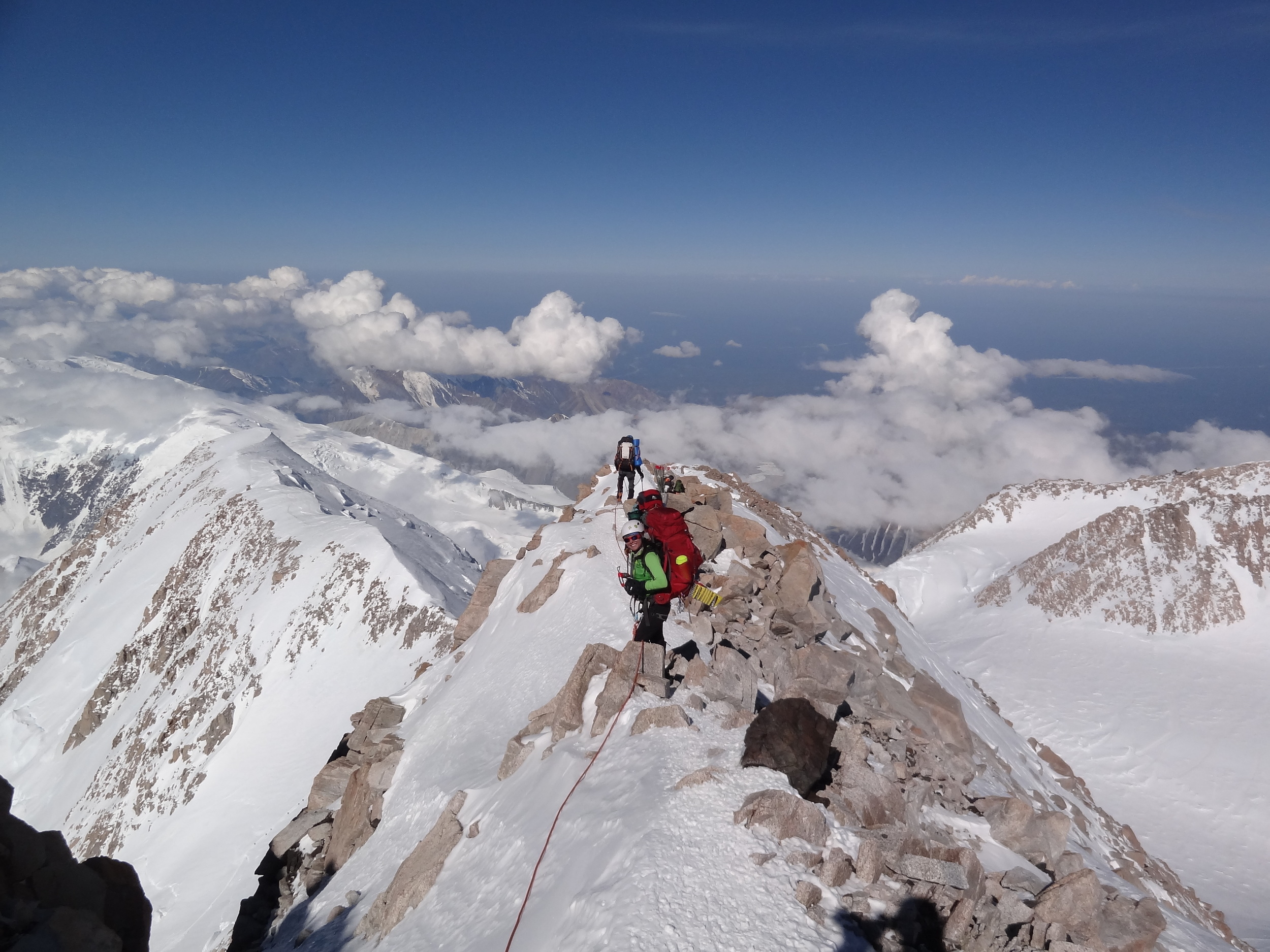 Mountain climbing, like life and daily job demands, is often a balancing act.