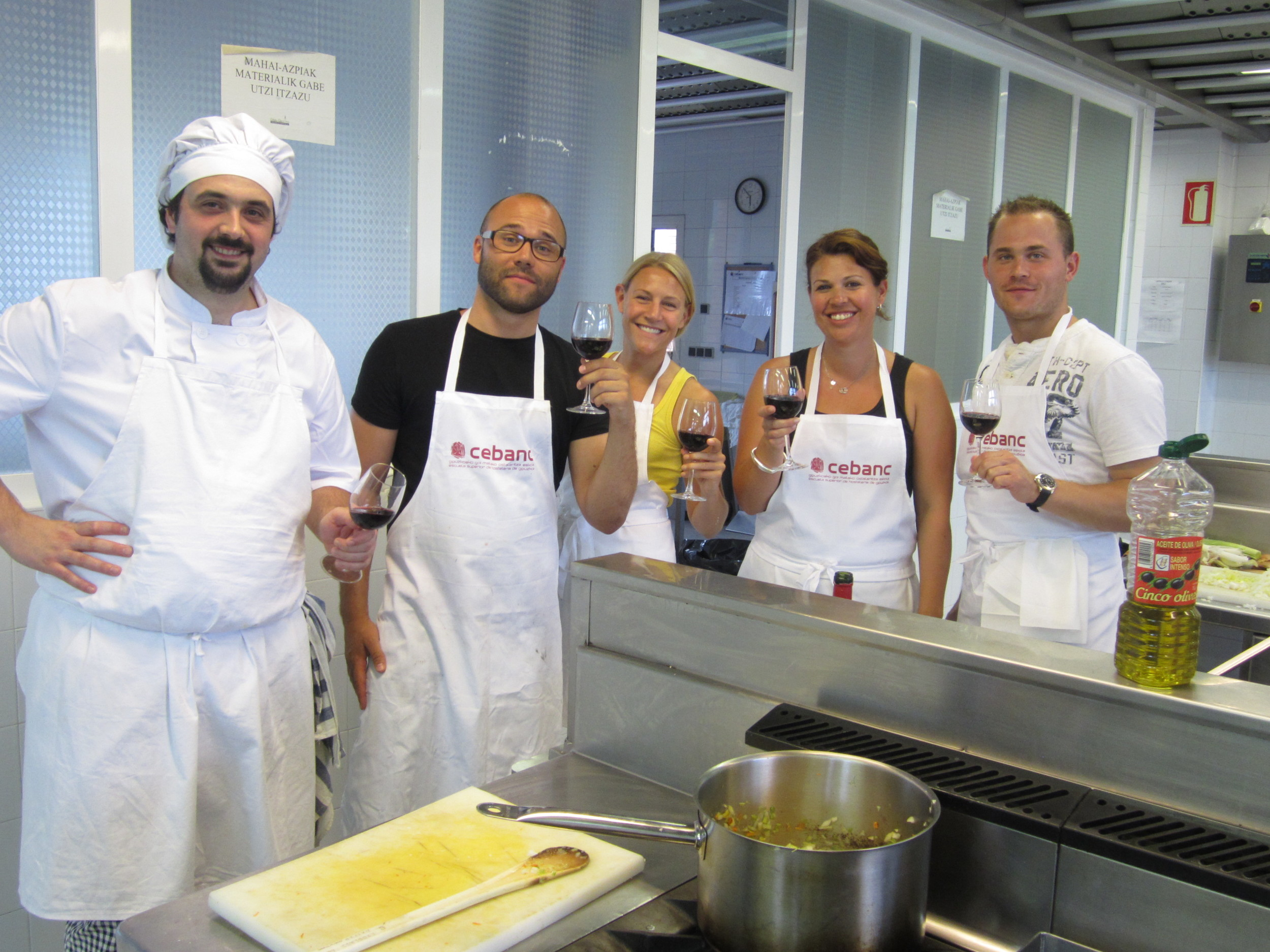 cooking class with Igor at Cebanc in San Sebastian