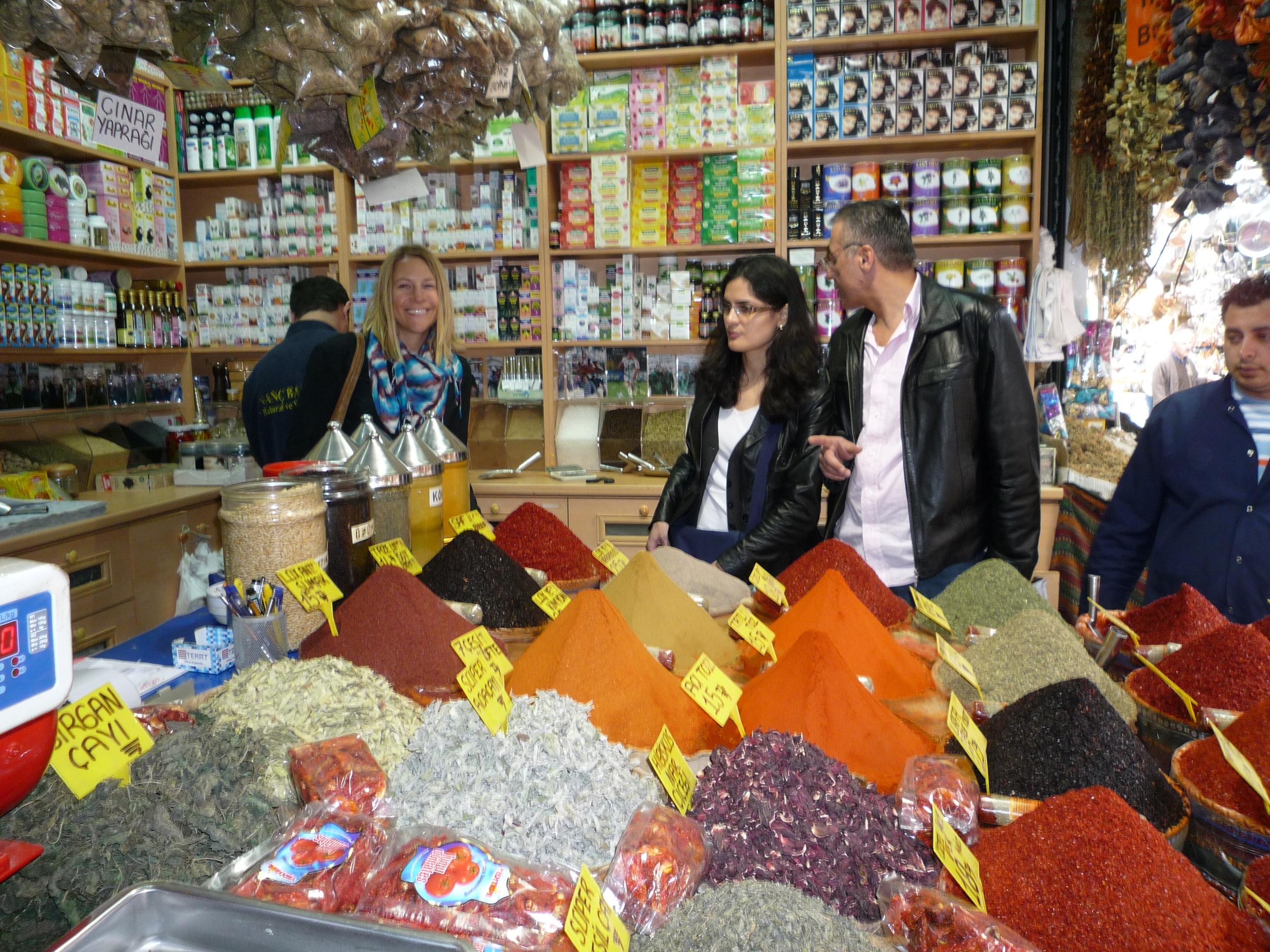 Grand Bazaar spices in Istanbul, Turkey