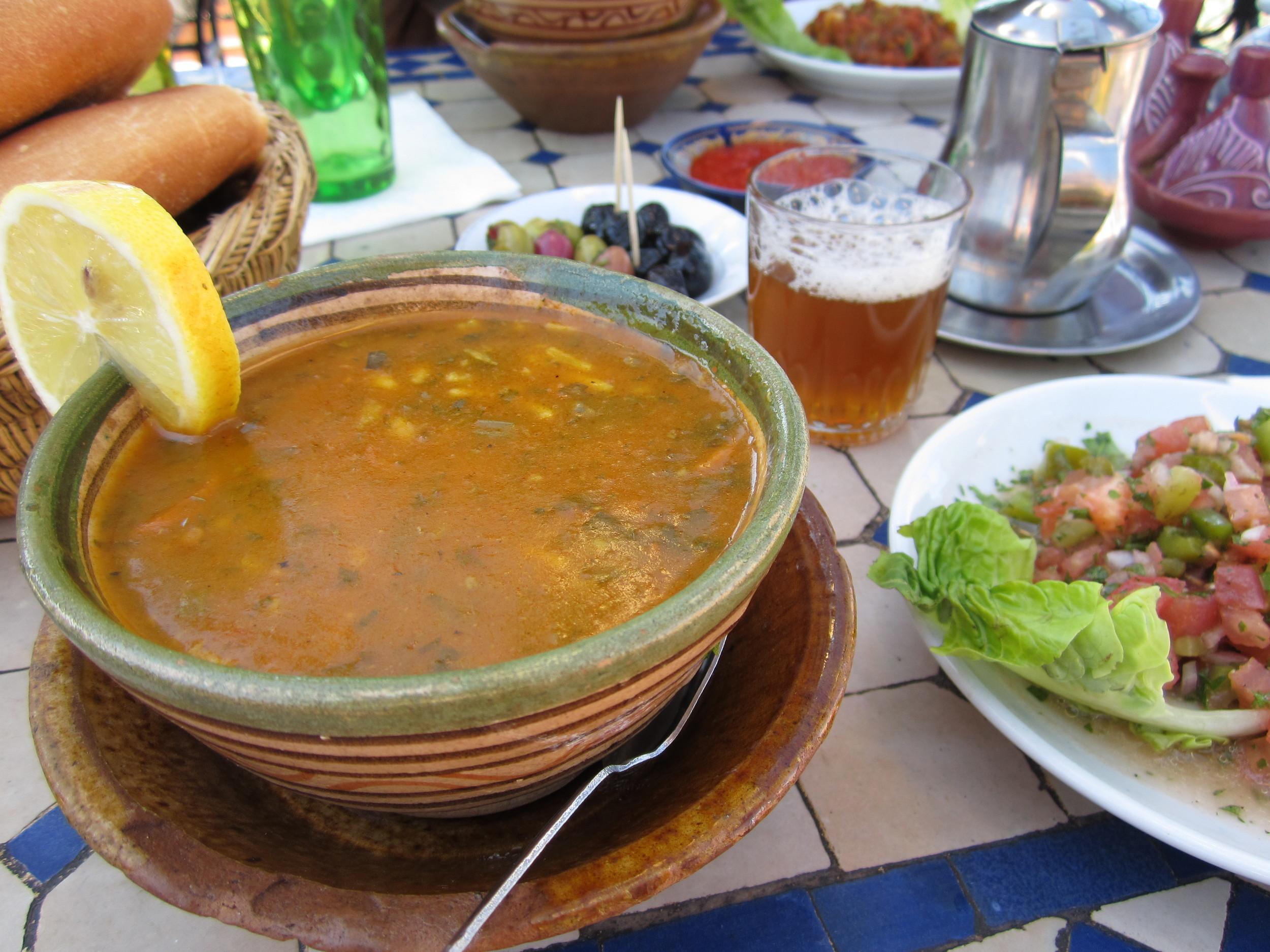 Lentil soup in Marrakech, Morocco