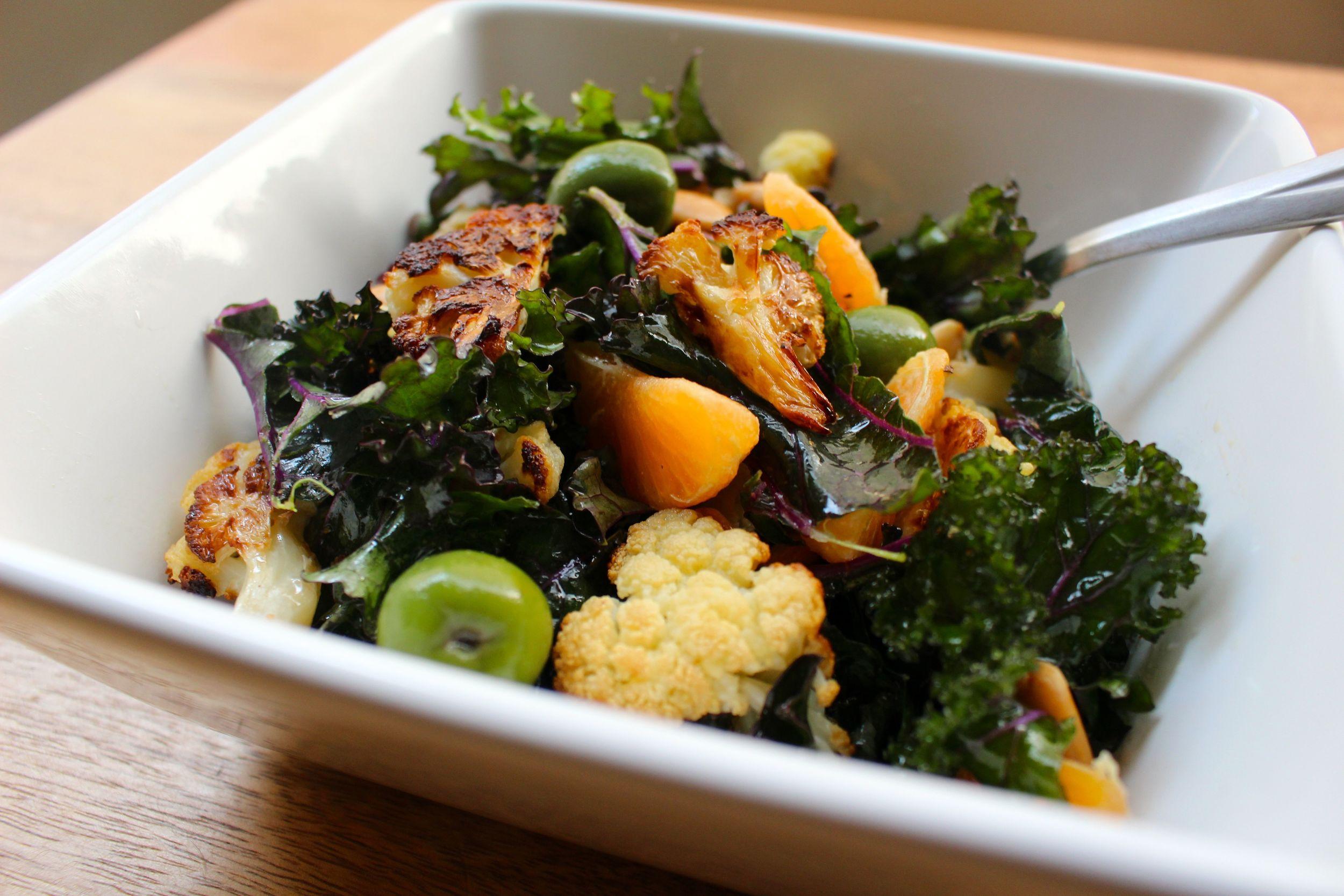Spanish Kale and Cauliflower Salad