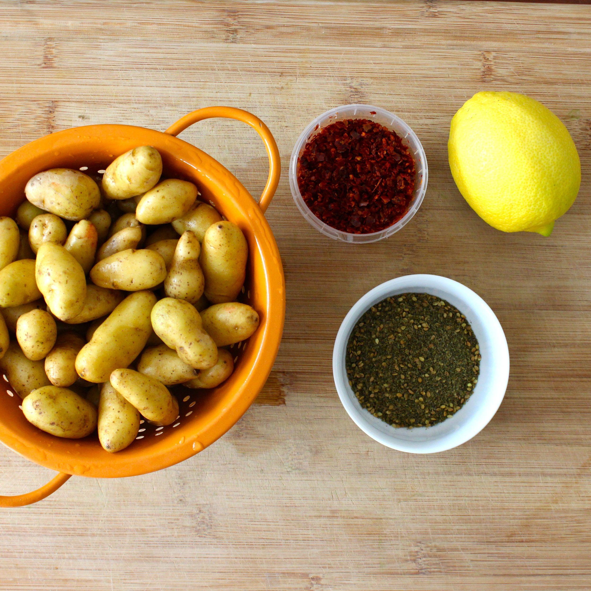 Potatoes, Marash pepper, za'atar and lemon