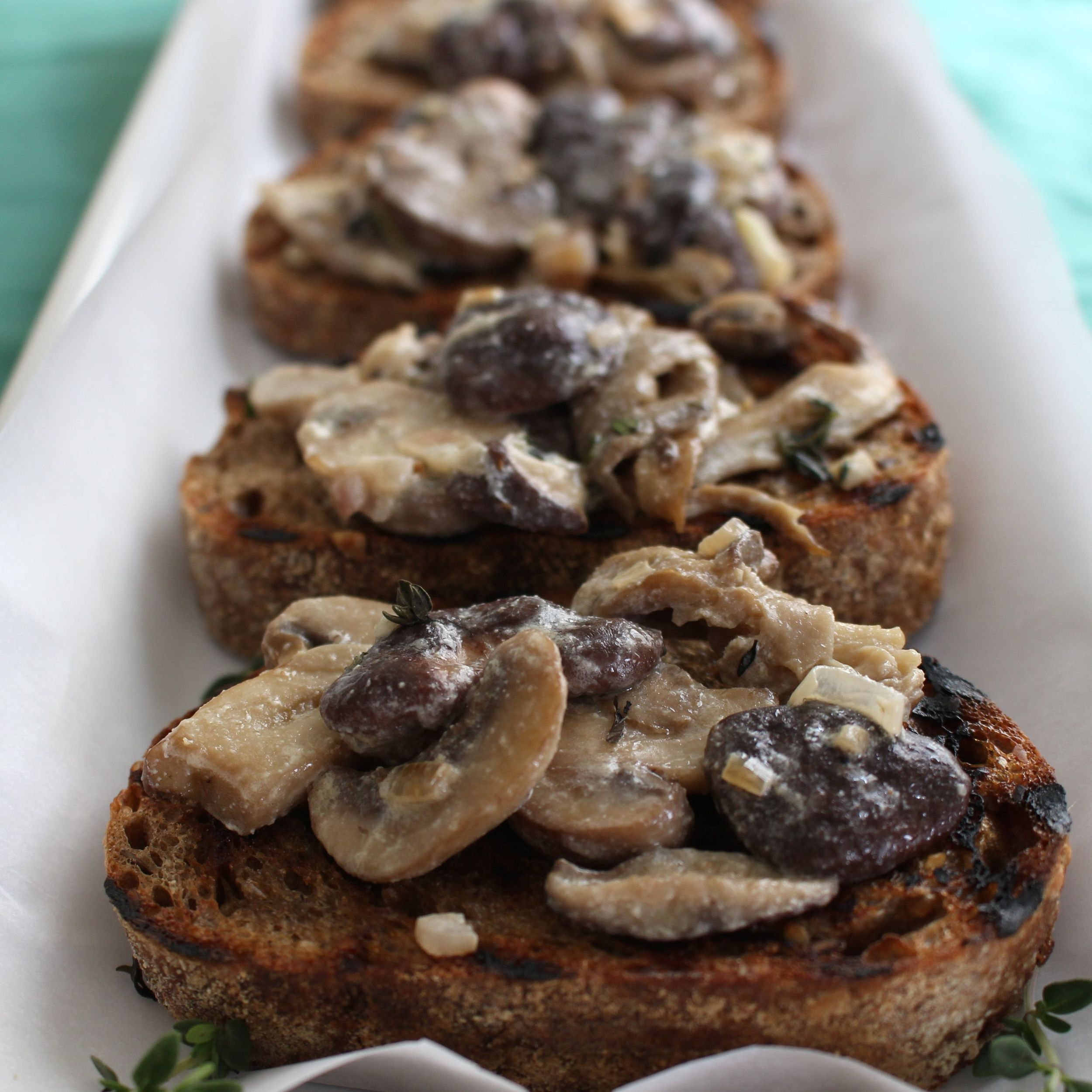 mushroom-toasts