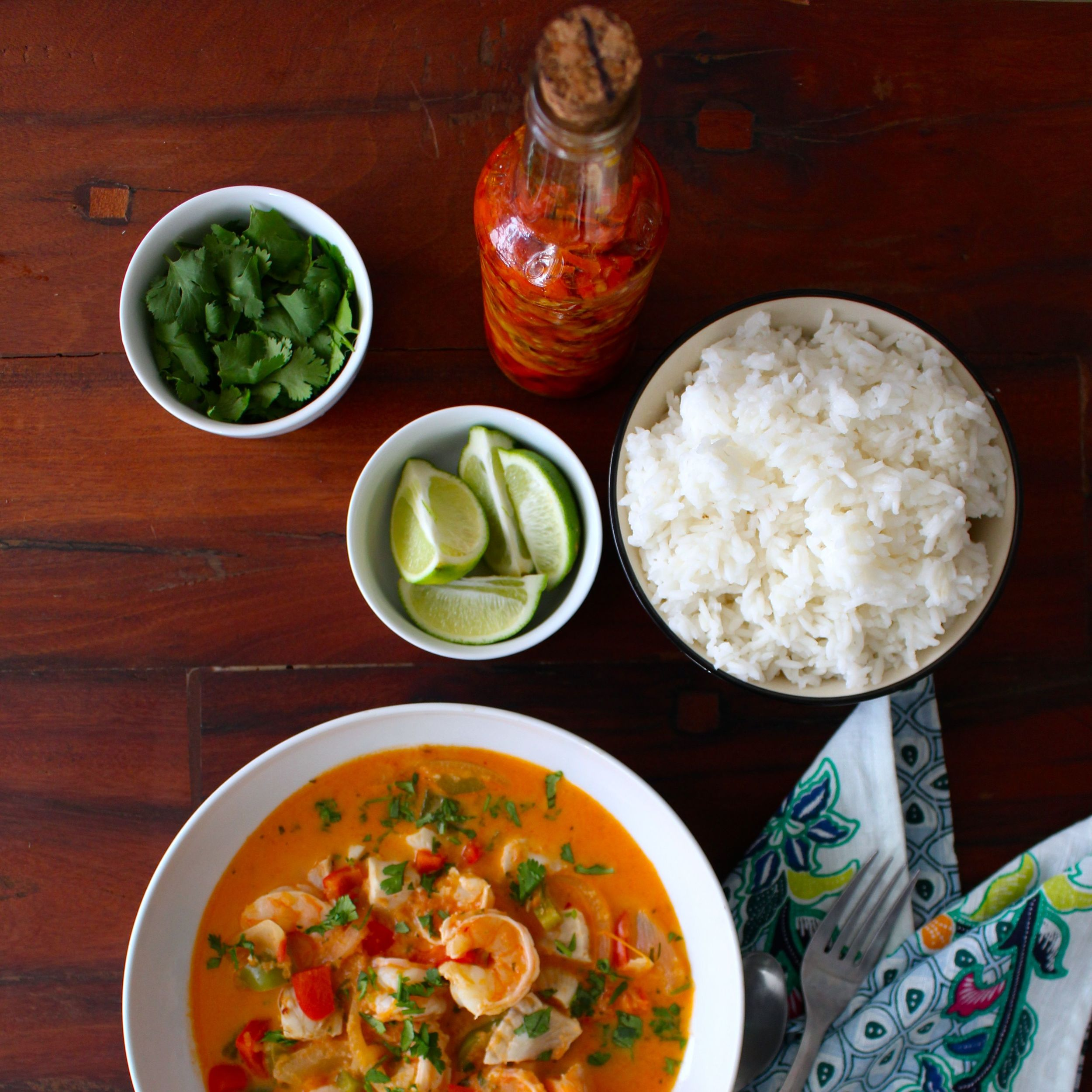 Moqueca is great with lots of fixins