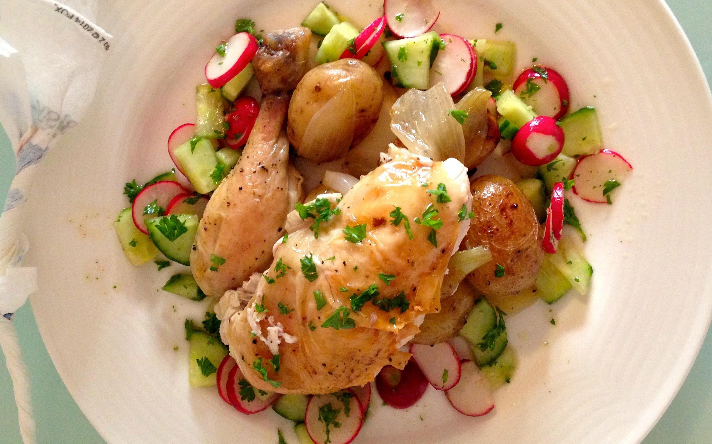 Roast-Chicken-Cucumber-Radish-Salad