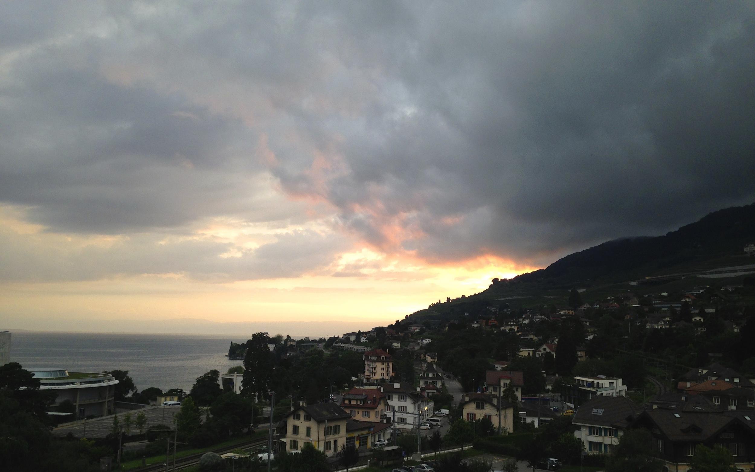 Vevey, Switzerland from the house balcony