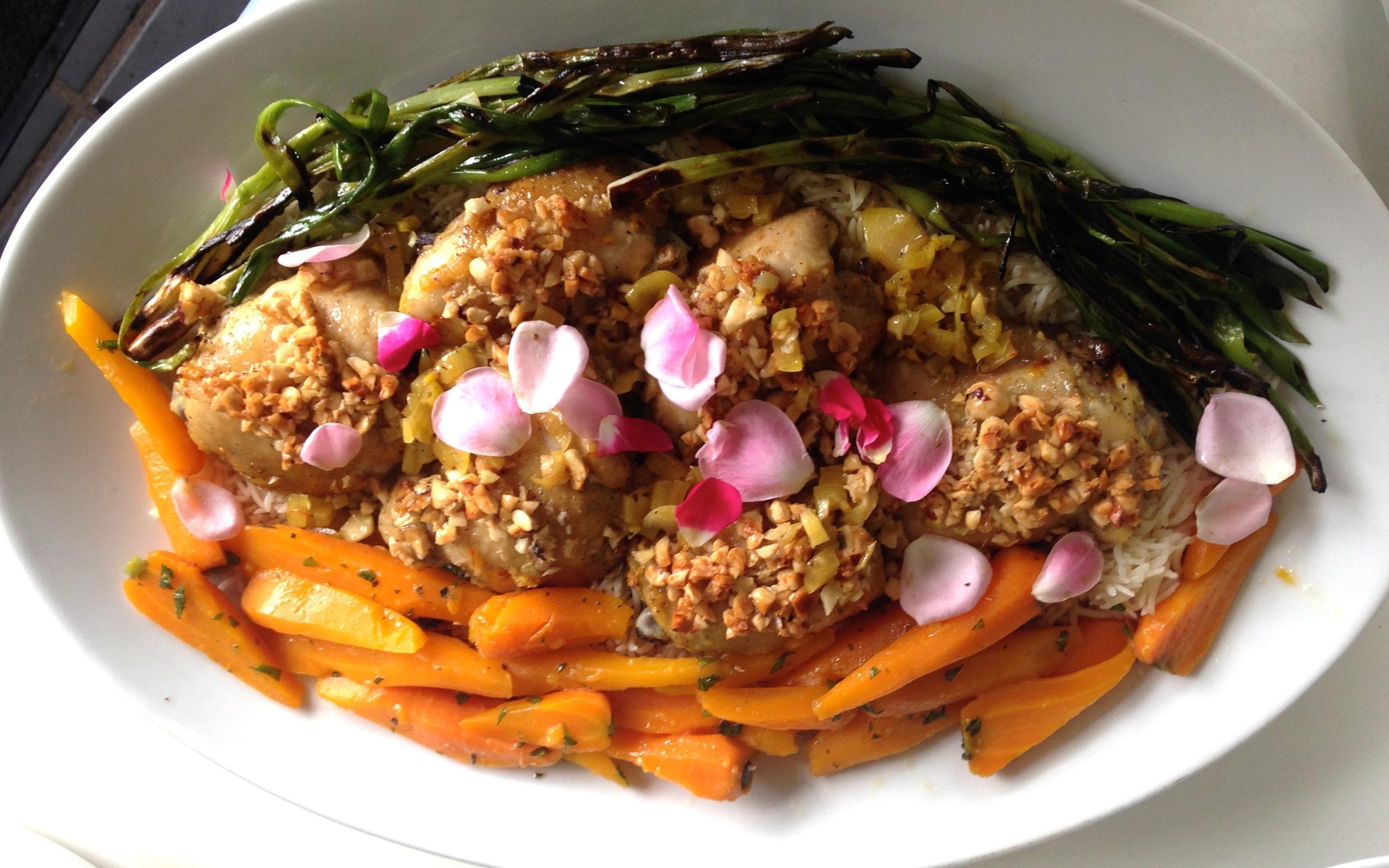 Ottolenghi-Chicken-Saffron-Hazelnuts