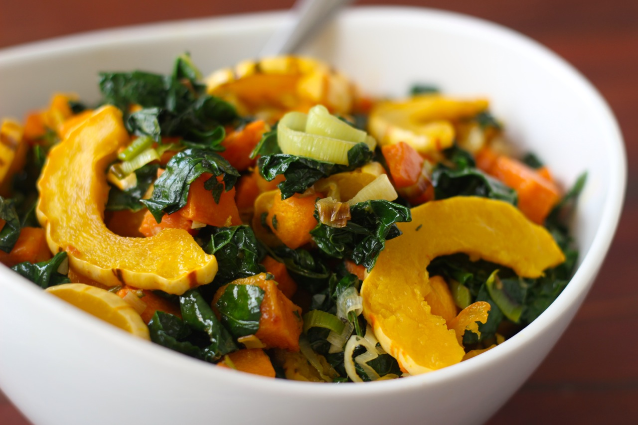 Autumn Squash and Kale with Sage